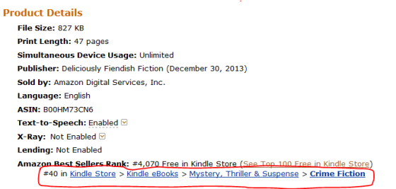 #40 in Kindle - Mystery Thriller & Suspense - #4,070 in FREE - BND First 5 Chapters